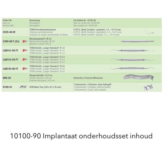 Implantaat Onderhoudsset