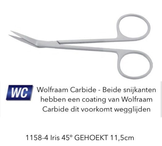 Iris gehoekt wolfraam carbide