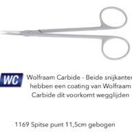 Spits gebogen wolfraam carbide