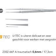 Atraumatisch Pincet 0.6mm U-tec recht Cooley