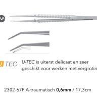 Atraumatisch Pincet 0.6mm U-tec Cooley