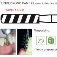 837KR cilinder ronde kant #3 turbo laser