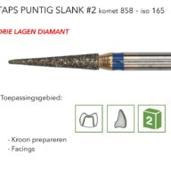 858 taps puntig slank #2 3L