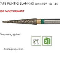 859 taps puntig slank #3 3L
